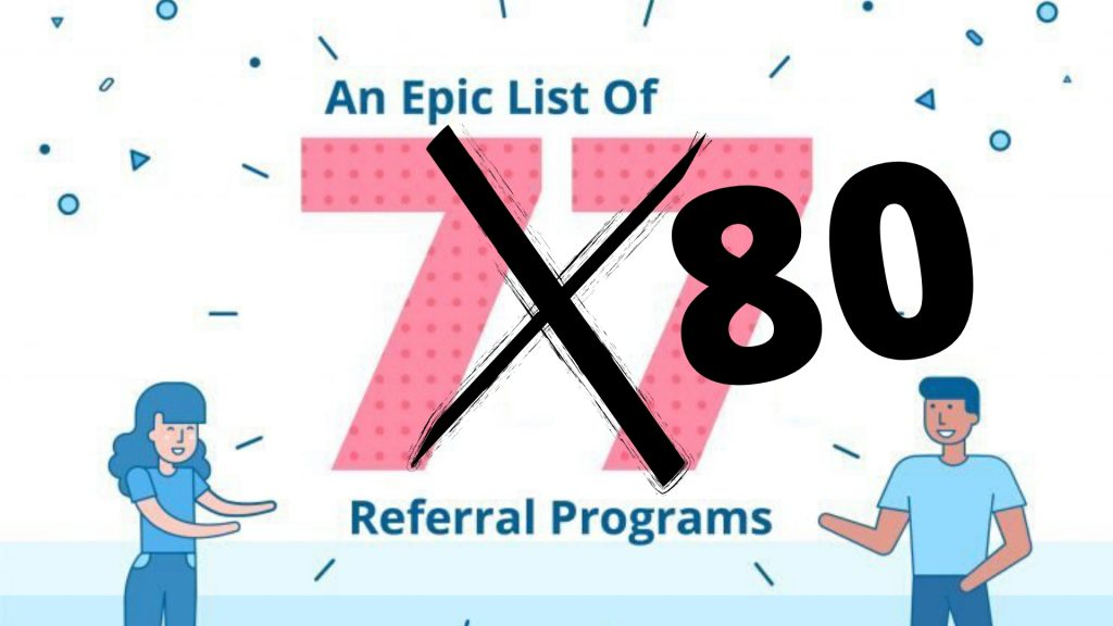 List of 80 referral programs